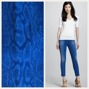 Joe's High Water Viola Snake Print Denim Blue 31